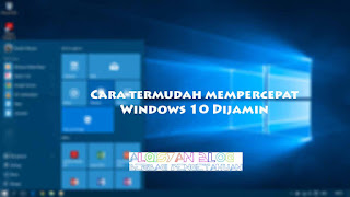 Cara termudah mempercepat Windows 10 dijamin - ikon