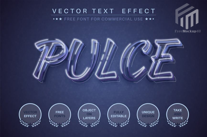 Pulce Editable Text Effect Font Style
