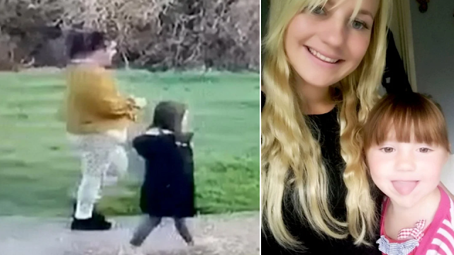 Видео: соседка похитила 5-летнюю девочку с детской площадки