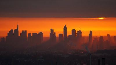 City, Sunset, Buildings, Dusk, Cloudsv