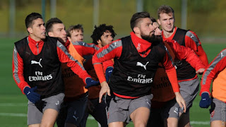 PICTURES: Arsenal Have Final Preparation Ahead of Man United Game
