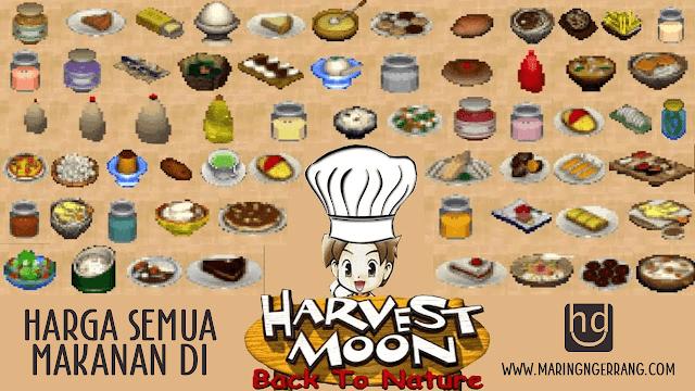 Harga Semua Makanan di Harvest Moon: Back to Nature