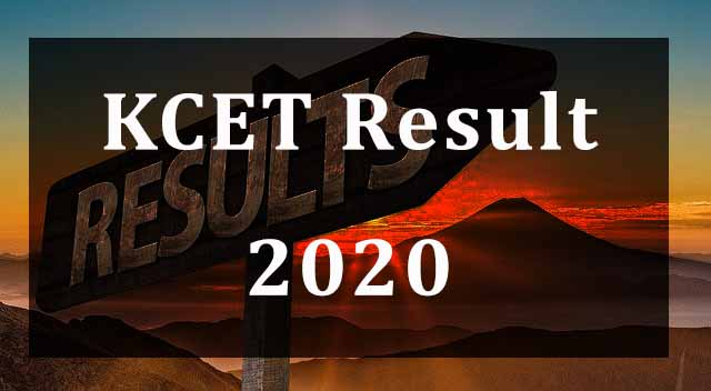KCET Result 2020 Declared