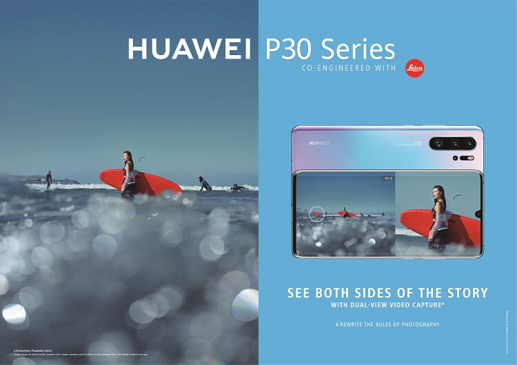 Huawei Updates P30 Series with Dual-View Camera Mode
