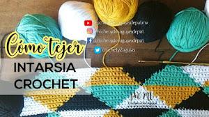 Cómo tejer con dos o más colores a crochet / Tutorial Técnica Intarsia