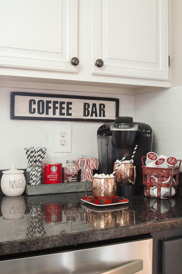 Christmas Home Tour- Hot Cocoa Bar