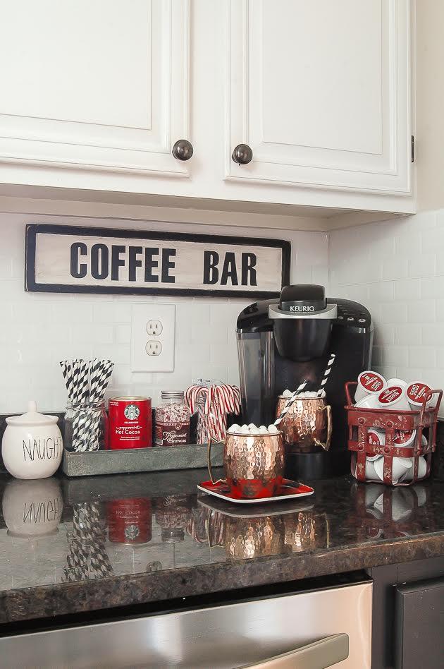 Christmas Home Tour- Hot Cocoa Bar