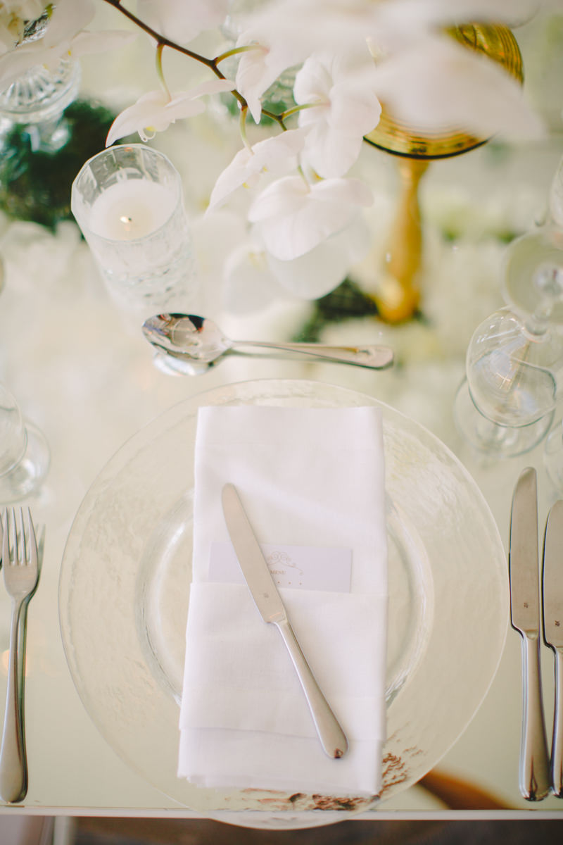 Luxurious White and gold wedding tablescape