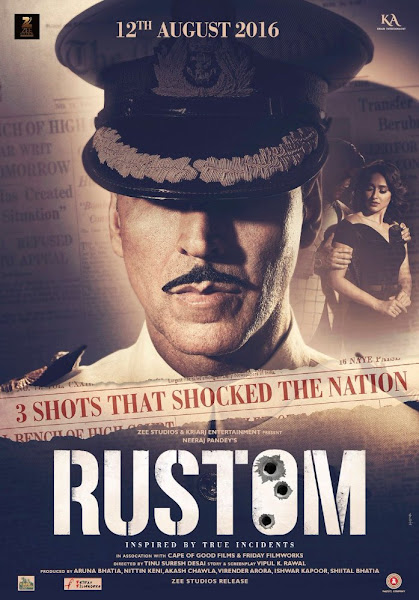Poster Of Rustom 2016 720p Hindi HDRip Full Movie Download