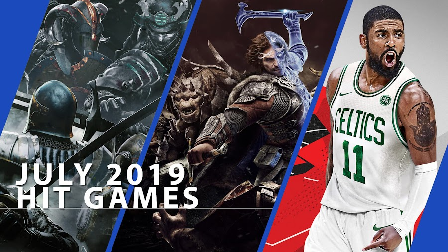 playstation now for honor middle earth shadow of mordor nba 2k18 hit ps4 games july 2019