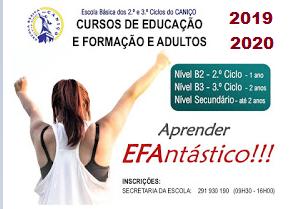 Cursos Efa Caniço – Madeira (2019/2020)