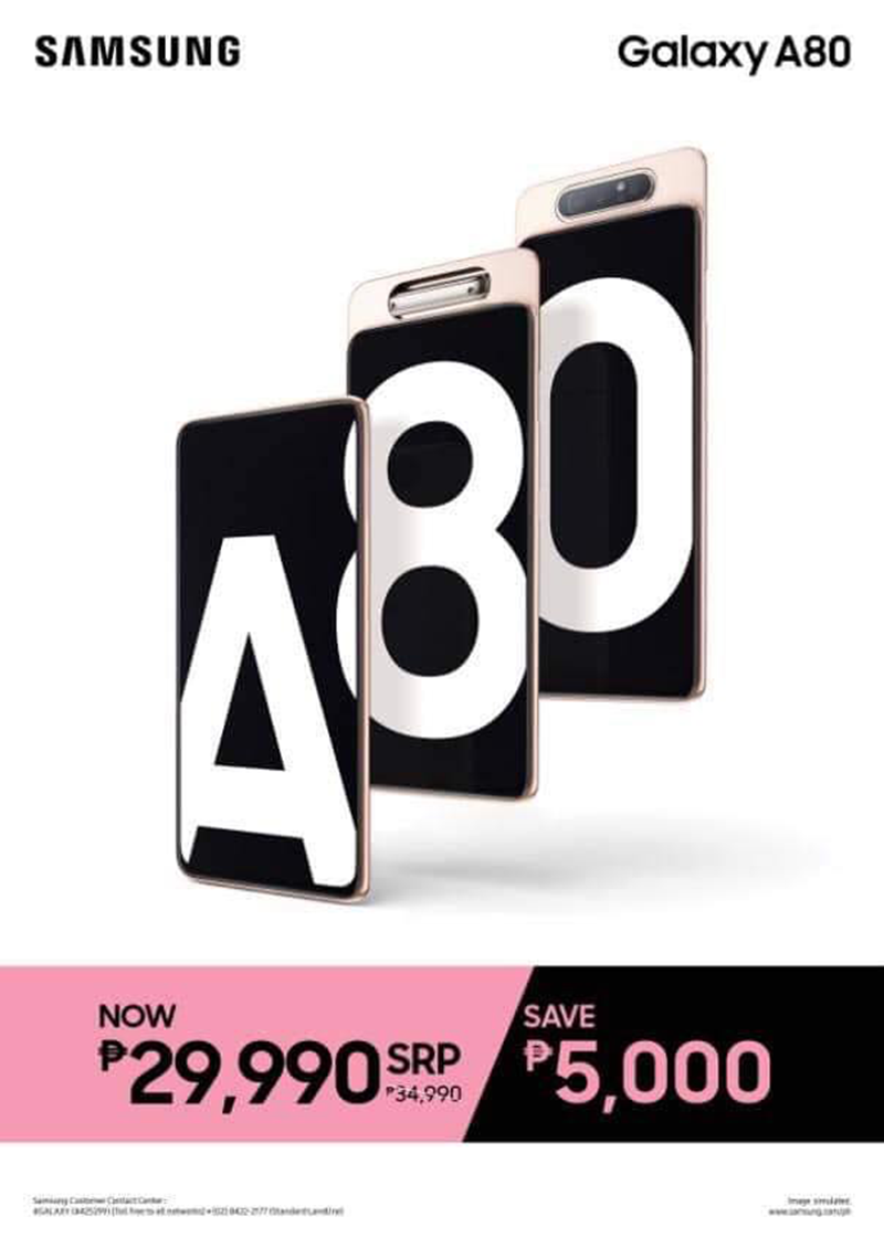 New SRP of A80 is PHP 29,990