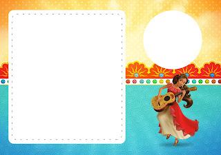Para hacer invitaciones, tarjetas, marcos de fotos o etiquetas, para imprimir gratis de Elena de Avalor.