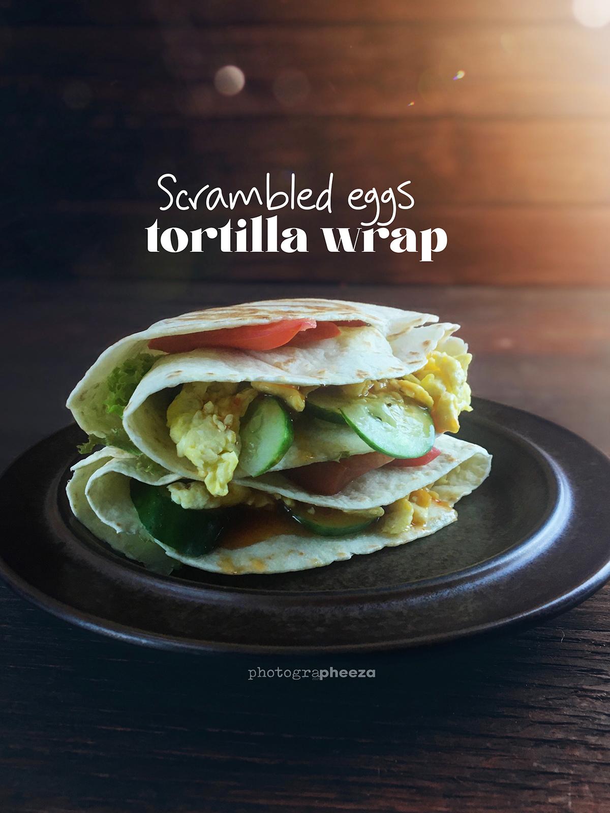 Scrambled Eggs Tortilla Wrap