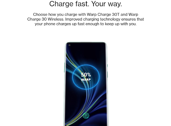OnePlus 8 pro battery is superfast.