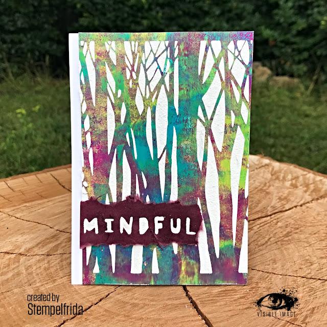 forest   stencil   mindful sentiment   handmade card
