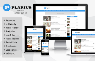 plarius blogger template with amp responsive