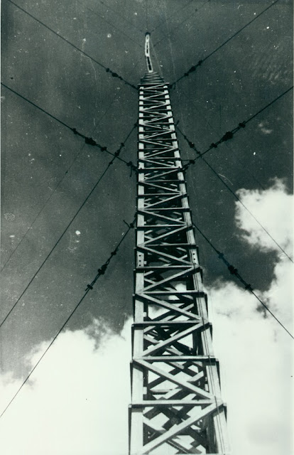 One of 2CA's masts, Radio Hill, July 1934