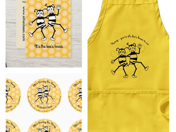 Designer Spotlight : Invincible Penguin - The Bees Knees Retro Dancing Bees Labels & Gifts Collection