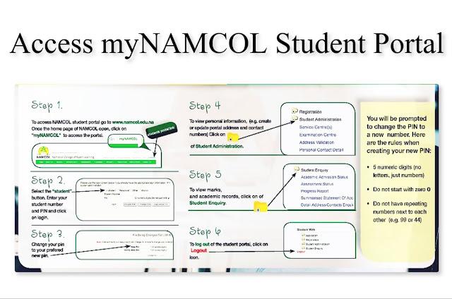 myNAMCOL student portal info
