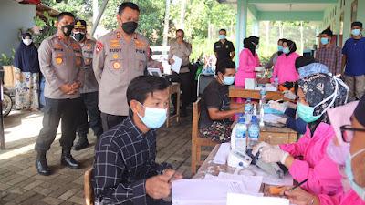 Pastikan Pilkades Lebak Aman, Sehat, dan Kondusif, Kapolda Banten Kunjungi TPS dan Gerai Vaksin