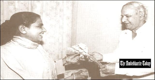 Kanshi Ram and Mayawati in Government