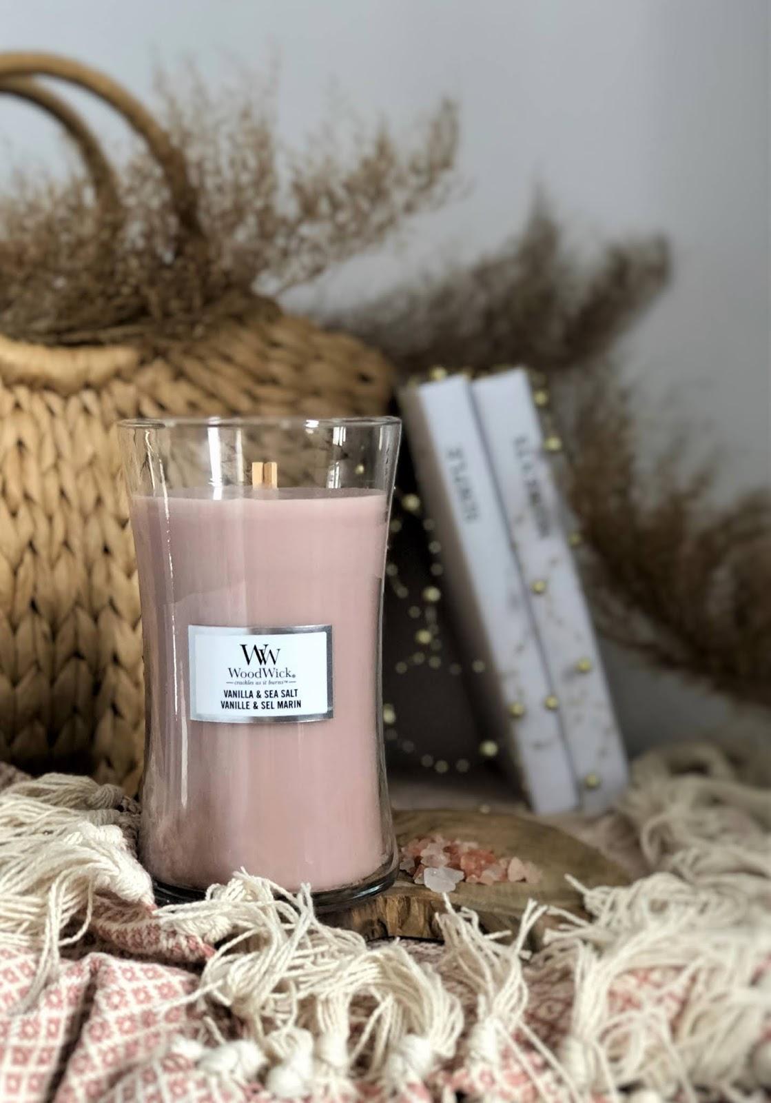 Zapach na deszczową niedzielę: Vanilla & Sea Salt WoodWick