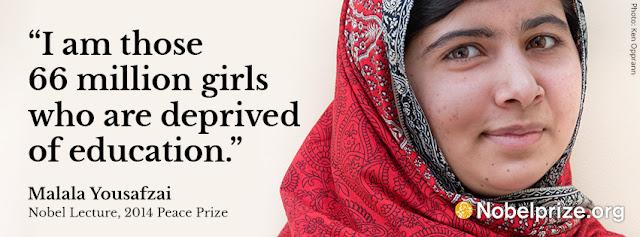 Malala, Nobel Prize laureate