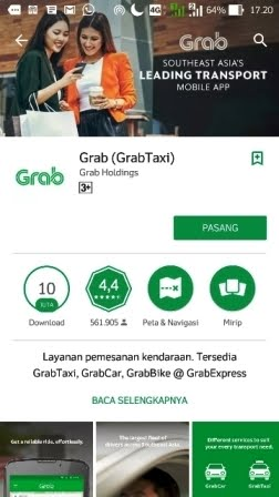 Grab1 cara membuat akun grab via playstore
