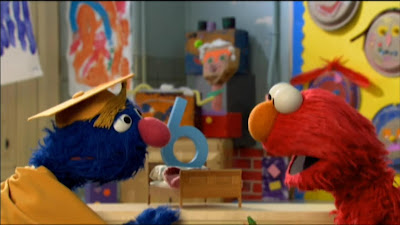Sesame Street Preschool is Cool Counting With Elmo. Elmo and Professor Grover.
