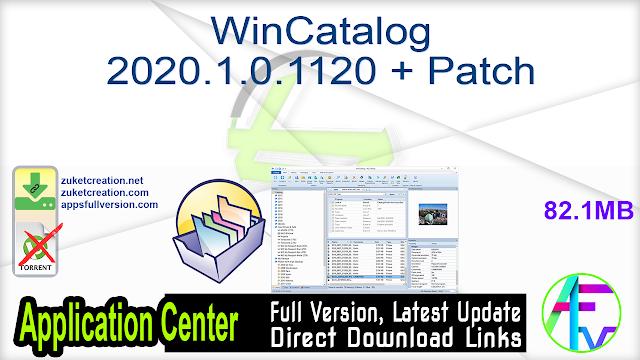 WinCatalog 2020.1.0.1120 + Patch