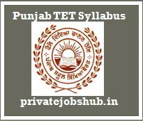 Punjab TET Syllabus