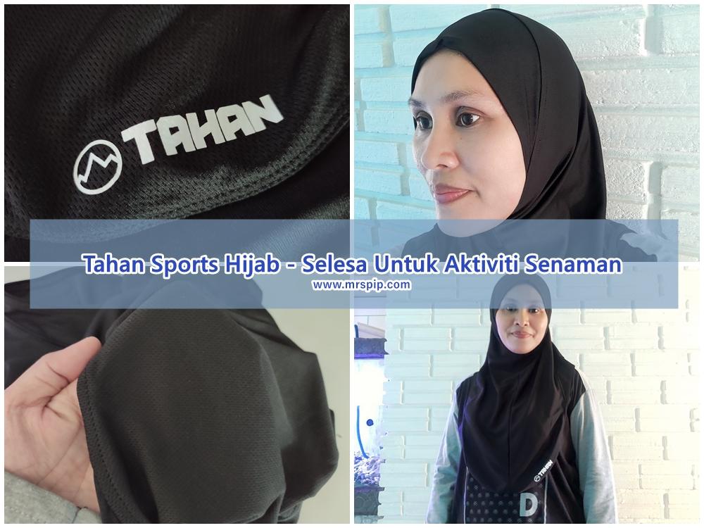 tahan sports hijab selesa untuk senaman