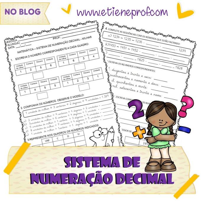 SISTEMA DE NUMERAÇÃO DECIMAL - MILHAR