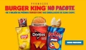 Cadastrar Promoção Burger King Pacote Elma Chips 2020 - Mais de 1 Milhão Prêmios