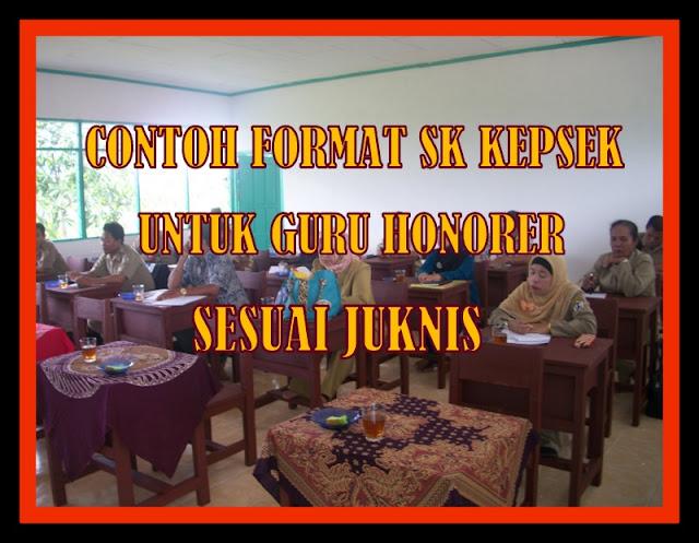 Download Contoh Format SK Kepsek Untuk Guru Honorer Sesuai Juknis