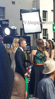 Chris Hardwick being interviewed on the red carpet - Terminator Genisys Premiere