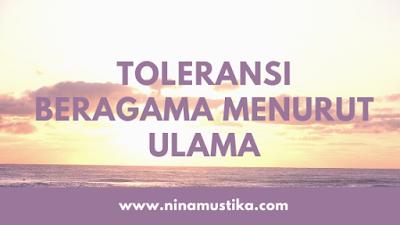 Arti Toleran dan Toleransi