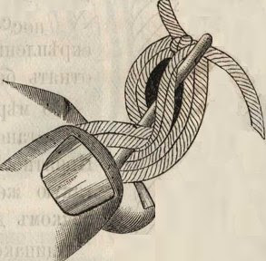 плетение нитью с насаживанием колец