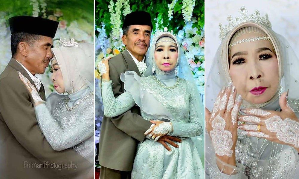 Viral pengantin usia 56 tahun