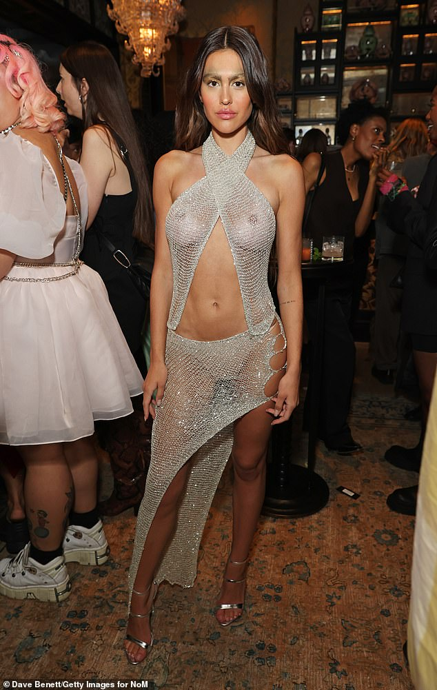 Amelia Hamlin Leaves Nothing to the Imagination in Completely See-Through Look