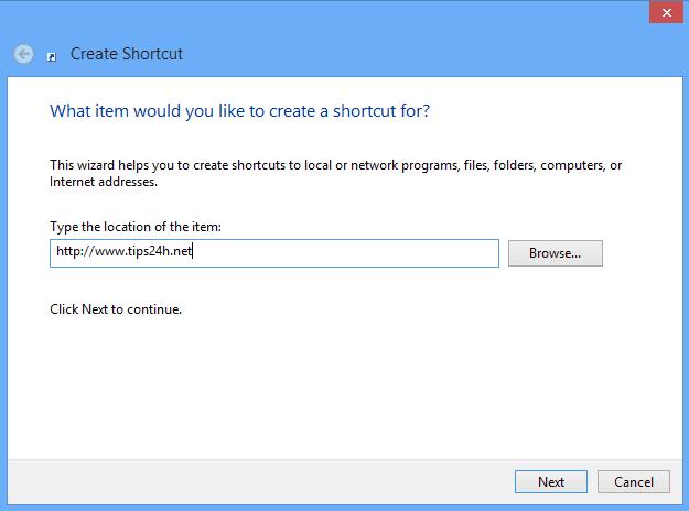 Tạo shortcuts cho website trên destop