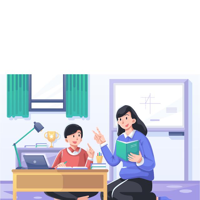 Gambar Kartun Anak Belajar di Rumah (15)