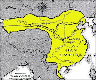 wilayah kekuasaan dinasti Han