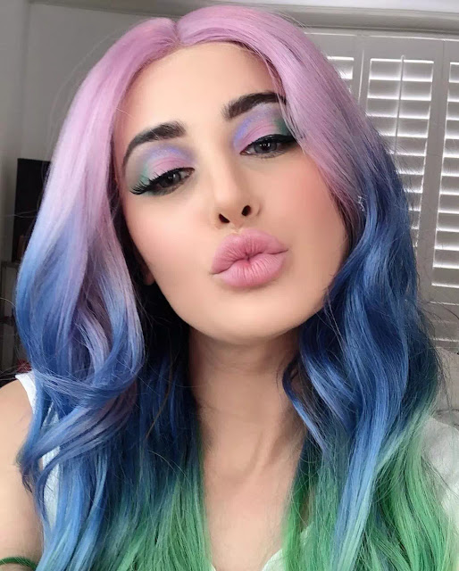 Nargis Fakhri Candy Floss Hairstyle