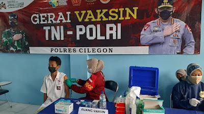Kapolsek Ciwandan dirikan gerai Vaksin Presisi di Sekolah