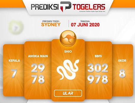 Bocoran Sydney Minggu 07 Juni 2020 - Togelers