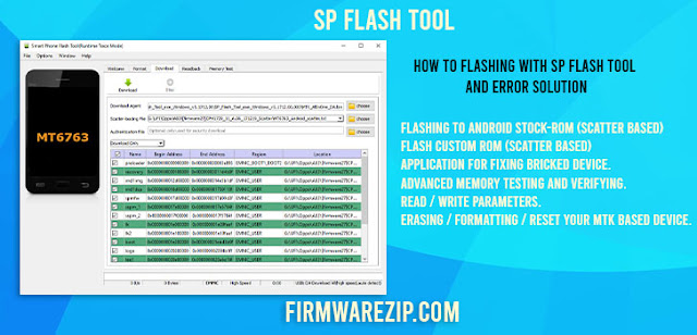 How to Flashing With SP Flash Tool And Error Solution