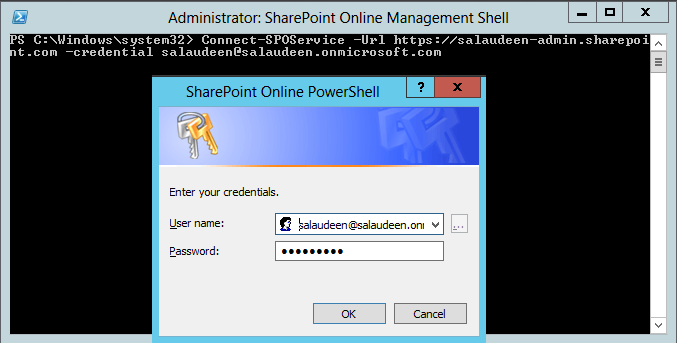 Connect to SharePoint online with PowerShell