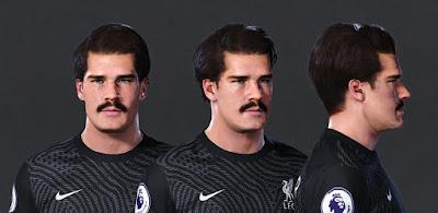 """PES 2021 Faces Alisson """"Moustache"""" Becker by Owen31"""